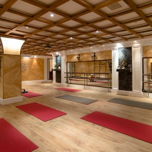 Yoga room interior